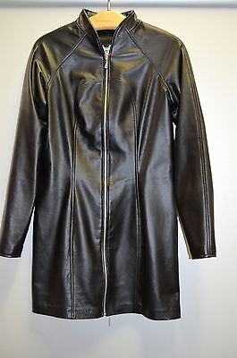 North Bound Leather Lederkleid Style 6180 Schwarz Echtes Leder Gr. XL  POS 25
