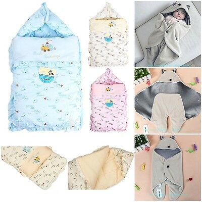 Baby Winter Swaddle Wrap Blanket Warm Newborn Sleeping Bag Infant Pram Duvet