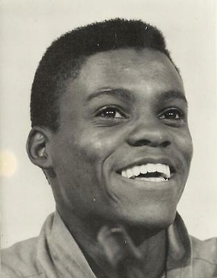 Original Press Photo CARL LEWIS Olympics Athlete Photograph Stamped to reverse