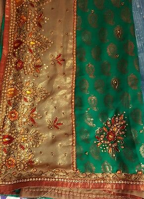 Indian Party Wear Bollywood  Embroidery Fancy Saree Sari