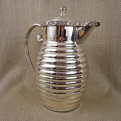 Vintage Silver Plated Jug Pitcher Ewer Middle Eastern Islamic Ottoman Large