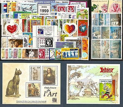 FRANCE Année COMPLETE 1999 - NEUF ** LUXE - 80 Timbres
