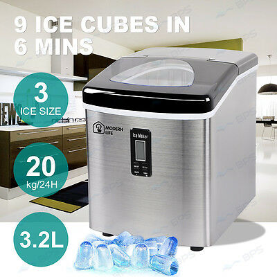 AU LOCAL Portable Ice Cube Maker Machine 2L Automatic Quick Home Fast Tray Easy