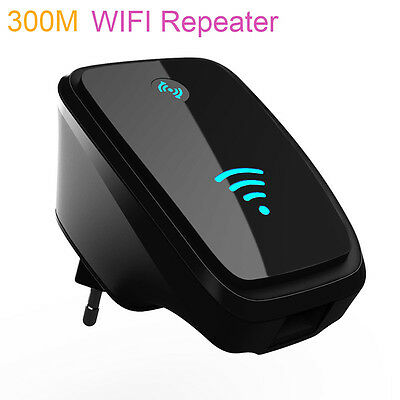 Universal 300Mbps Wireless AP Wifi Repeater Signal Range Router Extender Booster