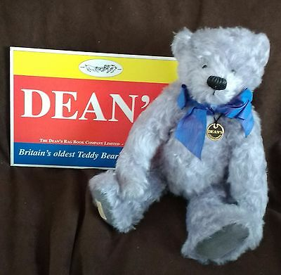 Deans Collectors Club Lavender Blue  Teddy Bear With Growler - No 121 New In Box