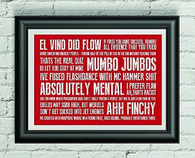 The Office (David Brent) quotes print A3