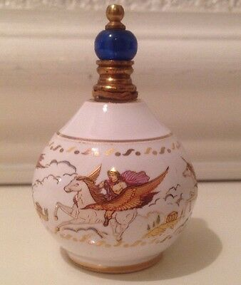 Oil Perfume Porcelain Bottle Trinket Jar Made In Greece