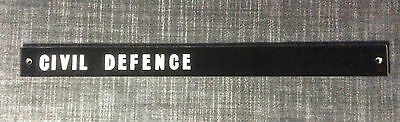 Civil Defence~Original Door Sign From Leeds City Police Station~Mid-20Th Century