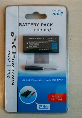 Rechargeable Battery Pack + Screwdriver for Nintendo DS