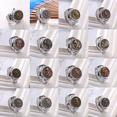 Hot Fashion Vintage Women Retro Rotation Finger Ring Quartz Watchs Antique Gift
