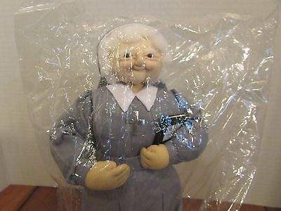 """Sister Mary Collection  10"""" Cloth Doll Nun W/holy Bible"""