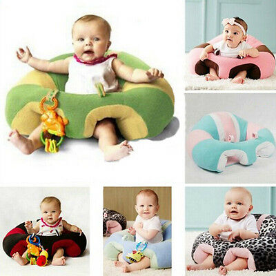 Infant Baby Support Seat Soft Cotton Travel Car Seat Pillow Cushion Toys 0-2Year