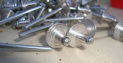 Large Flange Pop Rivets -BAG of 100-,73ASL 5-2 Aluminium  4mm x 7.5mm free post