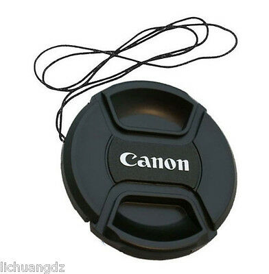 Center Pinch Snap-on Front Lens Cap 49/52/55/58/62/67/72/77/82mm for Canon