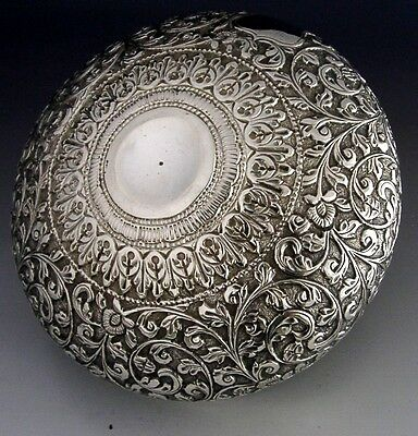 HIGH QUALITY ANGLO INDIAN COLONIAL SILVER BOWL c1890-1910 ANTIQUE GOOD SIZE 120g