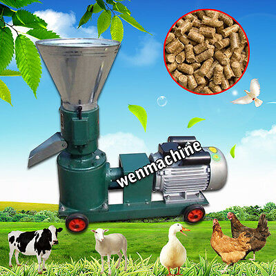 7.5KW New Pellet Mill Machine Feed Pellet Mill Machine With Motor 110V/220V
