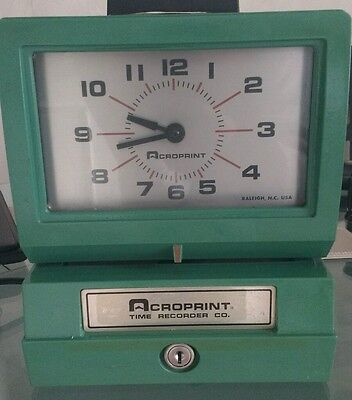 Acroprint time recorder/clocking in machine