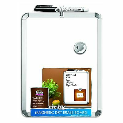 The Board Dudes Metalix Magnetic Dry Erase Board, White 8.5 x 11-Inch, DDT37 New