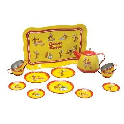 Schylling CGTS  Curious George Tin Tea Set