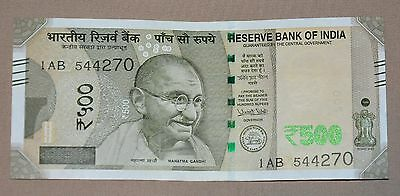 Brand New - 2016 India500 Rupees Bank Note Rs 500 - Uncirculated