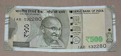 Brand New - Reserve Bank of India 500 Rupees Bank Note 2016 - Rs500 Uncirculated