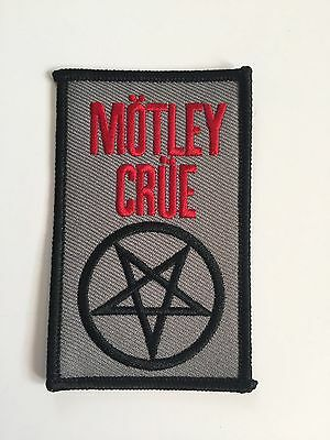 Motley Crue Embroidered Patch Iron on or Sew on