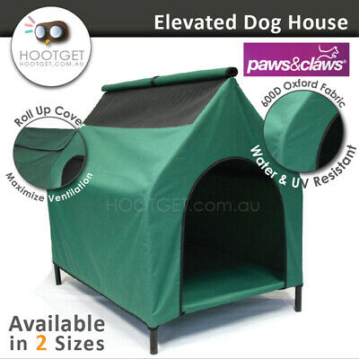 [2 Sizes]Portable UV Waterproof Pet Dog House Kennel-Bed Elevated Indoor Outdoor