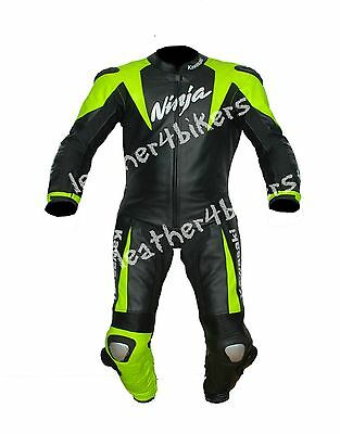 KAWASAKI NINJA Motorcycle Leather Suit Biker Leather Motorbike Mens Leather Suit