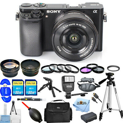 Sony Alpha a6000 Mirrorless Digital Camera with 16-50mm Lens MEGA BUNDLE