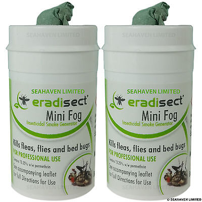 2 Pack Insect Fumigator Smoke - Insects Kills Bed Bugs Fleas Ants Flies House