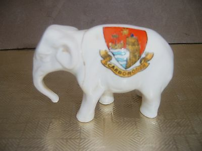 Crested China. Willow Art. Scarborough. Elephant Repaired.