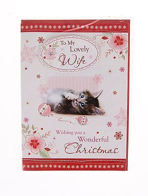 To My Lovely Wife Christmas Card - Kitten