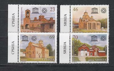 Architecture Serbia Serbien 2016 MNH** 690-93 Serbian Monasteries by UNESCO