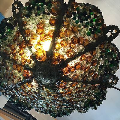 Beautiful Vintage French Murano Glass And Ormolu Bronze Chandelier