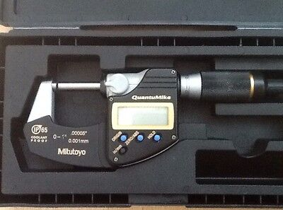 "Mitutoyo Digimatic Digital QuantuMike Micrometer 0-25mm/ 0-1"" 293-185"