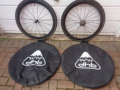 Pair of Planet X Carbon Fibre 700C Racing Bike Front & Rear Wheels 10 speed gear