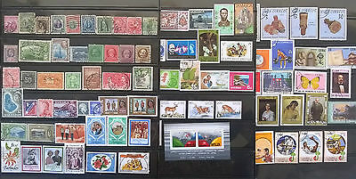 CARRIBEAN ISLANDS:Collection of 100 M/U Stamps (scan X4) !!