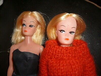 2 Vintage 1960's Barbie Clone Fashion Dolls