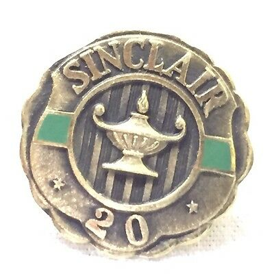 Vintage GOLD Sinclair Oil 20 Years Service Pin