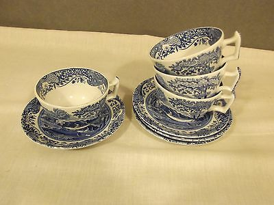 Spode Italian Design Set Of Four Cups And Saucers