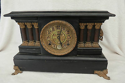 Antique Ingraham American Striking Mantel Clock For Spares Repair