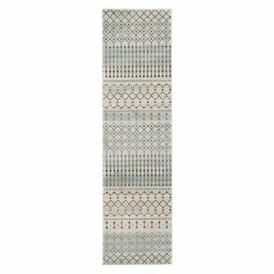 NEW Rug Culture Marbella Oriental Runner Rug, White