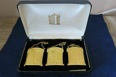 Vintage NY Club 21 Gilt Decanter Wine Labels Sporrongs Sweden