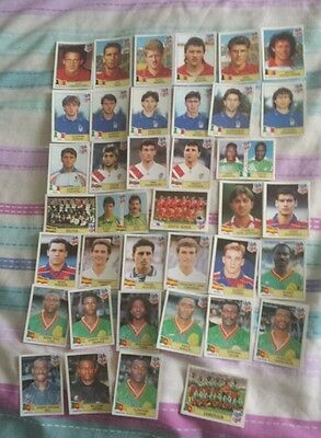 panini world cup use 94 1994 x 38 different stickers red backs