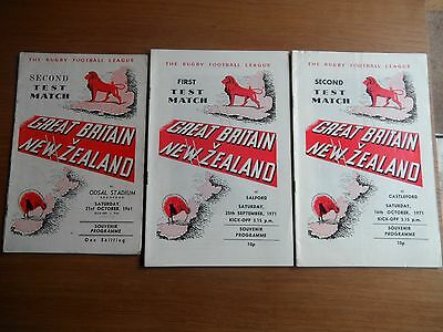 GREAT BRITAIN v NEW ZEALAND Rugby League programmes 1961-1971