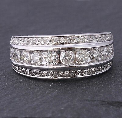 18ct White Gold & Natural Diamond Dress Ring. 1.00ct. Size L