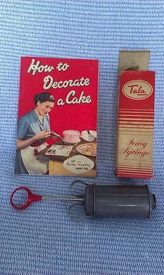 VINTAGE Tala Icing Syringe With Book No. 1716 Kitchenalia