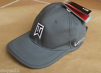 NIKE Tiger Woods TW Dri-Fit Ultralight Adjustable GrayTour Cap/Hat RZN VRS NWT