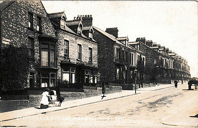Real Photo St.Michael's Ave, Mowbray Road, South Shields, PU 1912, very good