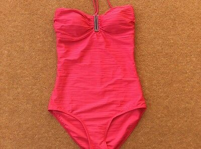 Womens Pink Ocean Club One piece Swimming Costume size 14